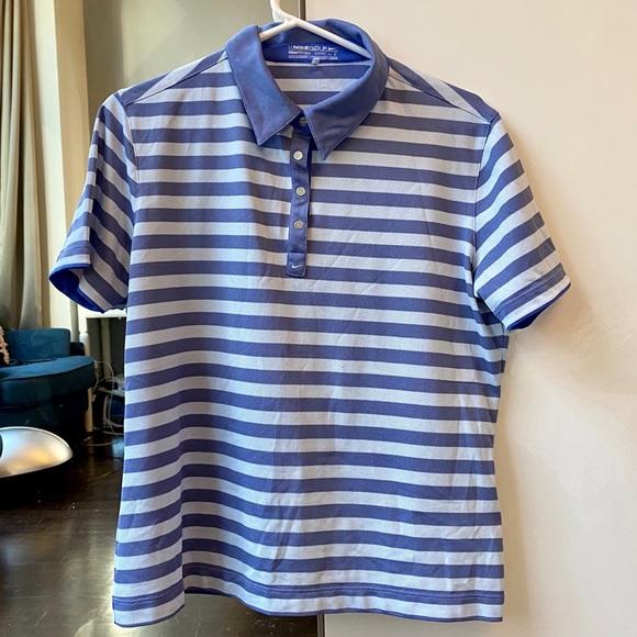 Nike Golf dry fit striped polo shirt L